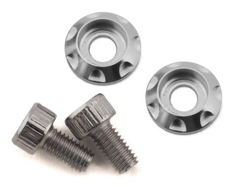 Team Brood M3 Motor Washer Heatsink w/Screws (Silver) (2) (6mm)