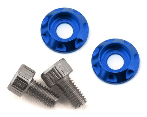 Team Brood M3 Motor Washer Heatsink w/Screws (Blue) (2) (6mm)