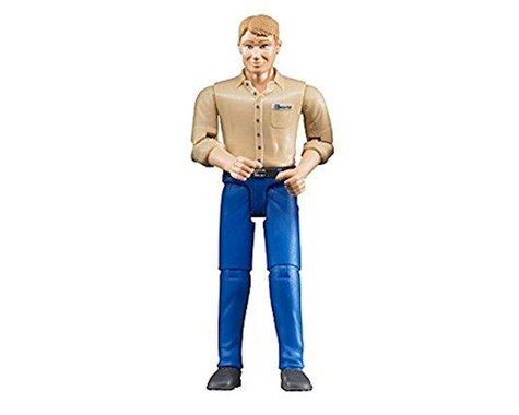 Bruder Toys 60006 Man with Blond Hair and Blue Jeans (positionable) by Bruder