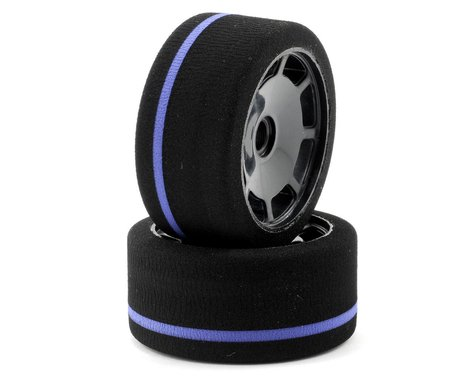 John's BSR World GT Spec Front Tire (2) (Black) (Purple)