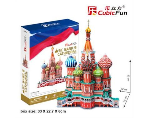 Cubic Fun St. Basils Cathedral Russia 3D Puz