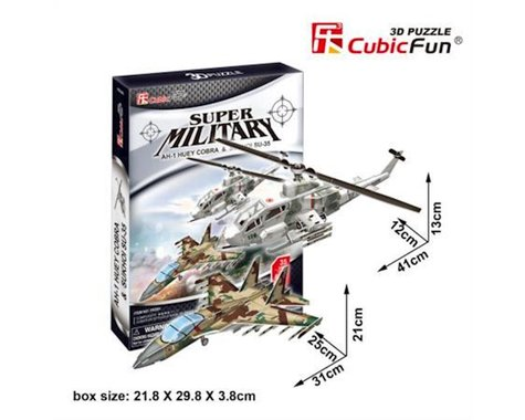 Cubic Fun CubicFun P628H A1Huey and Cobra Fighter Jet Puzzle