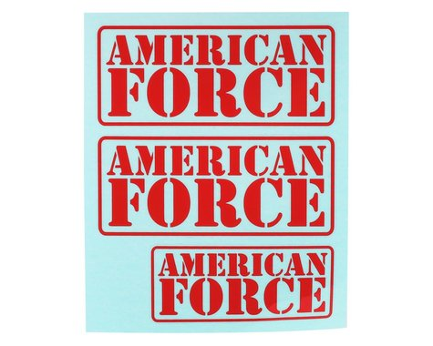 CEN American Force Decal (Red)