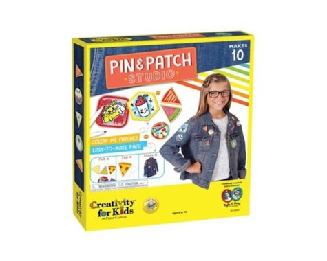 Creativity for Kids Pin & Patch Studio, Design Your Own Iron-On Patches and Pins
