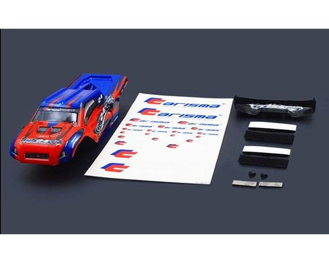 Carisma GT24TR Painted and Decorated Truggy Body ( Red / Blue)