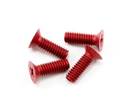 CRC 8-32 Front End Screws (Red) (4)