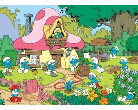 Cobble Hill Puzzles COBBLE HILL Cleaning Smurfettes Jigsaw Puzzle (500 Piece)