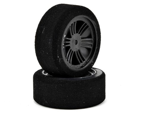 Contact 12mm Hex 1/10 Electric Sedan Dual Foam Tires (2) (Carbon Black) (Medium)