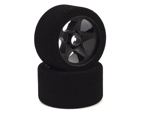 Contact 1/8 Nitro Foam Front Tires w/5 Spoke Rim (2) (Black) (30 Shore)