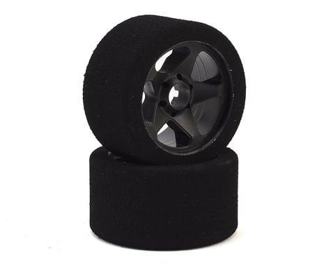 Contact 1/8 Nitro Foam Front Tires w/5 Spoke Rim (2) (Black) (35 Shore)