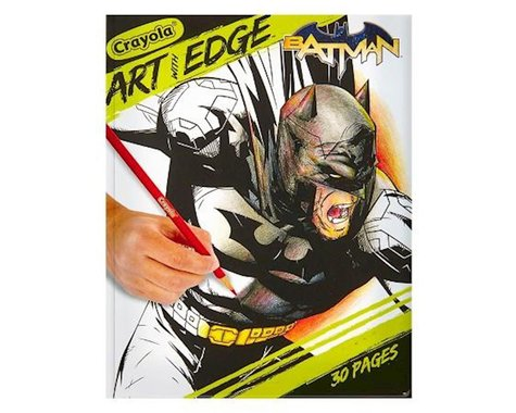 Crayola Llc Crayola Art with Edge Coloring Book, Batman, 30 Coloring Pages, 8 x 10 inches