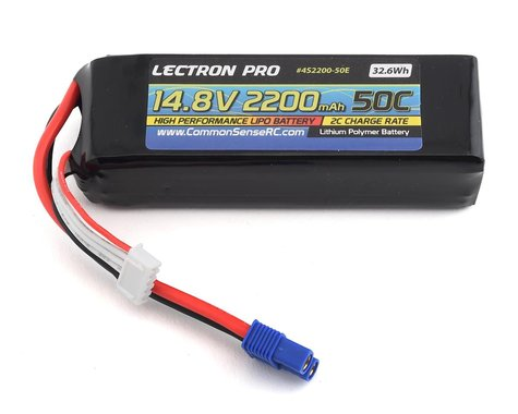 Common Sense RC Lectron Pro 4S 50C LiPo Battery (14.8V/2200mAh)
