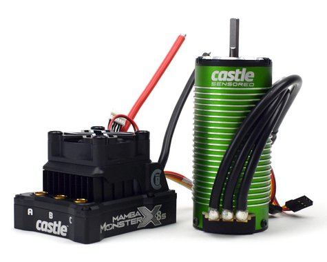 Castle Creations Mamba Monster X 8S ESC/Motor Combo w/1520 Sensored Motor