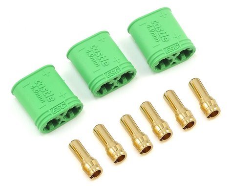 Castle Creations 4mm Polarized Bullet Connector Set (Male)