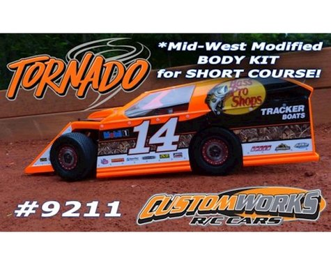 Custom Works Tornado Midwest Modified Short Course Mod Body Kit (Clear)