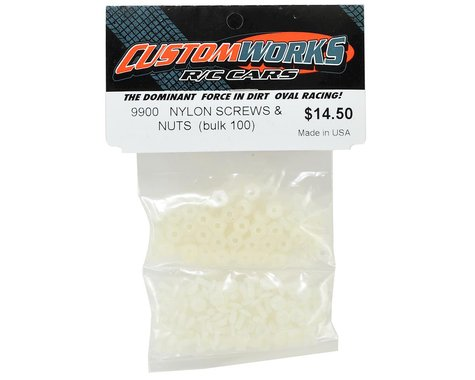 Custom Works Nylon Screws & Nuts (100)