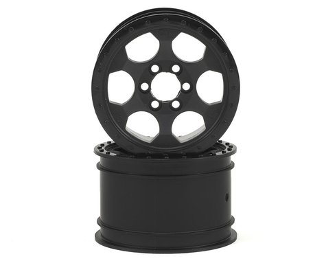 Crawler Innovations Double Deuce 6 Bolt 2.2 Crawler Wheel (Black) (2) (1.5 Wide)