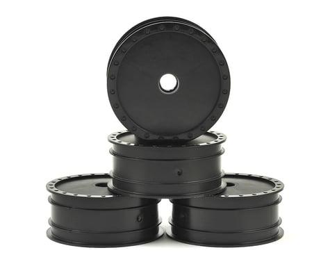 "DE Racing ""Borrego"" 2.2 1/10 Buggy Front Wheels (4) (B4) (Black) (Bearing)"