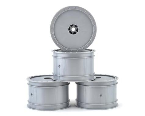 """DE Racing 12mm Hex """"Borrego"""" 2.2 1/10 Buggy Rear Wheels (Silver) (4) (B6/22)"""