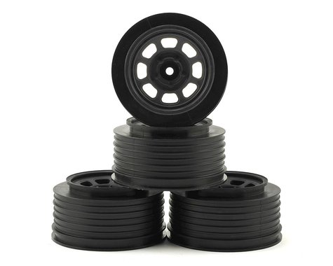 DE Racing Speedway Short Course Wheels (Black) (4) (21.5mm Backspace)