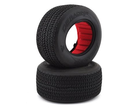 """DE Racing G6T Grooved Oval SC 2.2/3.0"""" Short Course Truck Tires (2) (D40)"""