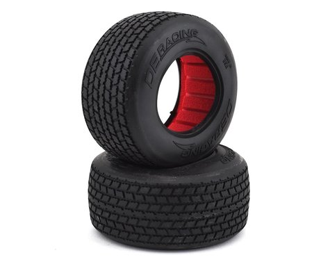 """DE Racing G6T Oval SC 2.2/3.0"""" Short Course Truck Tires w/Inserts (2) (Clay)"""