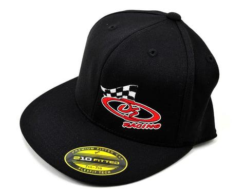 """DE Racing Logo """"Flatbill"""" FlexFit Cap (Black) (L/XL)"""