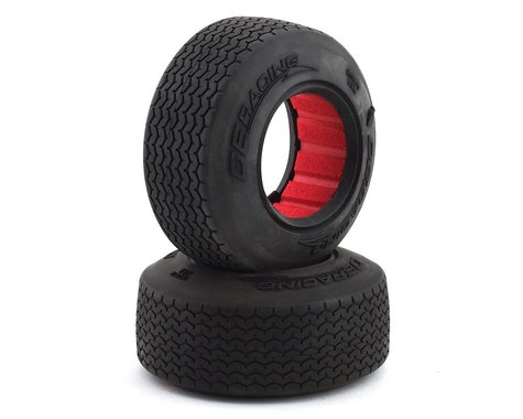 DE Racing Outlaw Sprint HB Dirt Oval Front Tires w/Red Insert (2) (Clay)