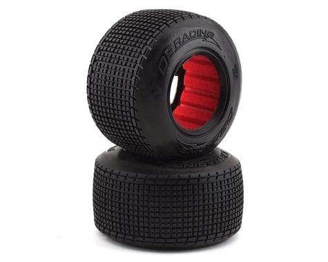 DE Racing Regulator Late Model Dirt Oval Rear Tires w/Red Insert (2) (D30)