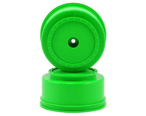 "DE Racing 12mm Hex ""Borrego"" Short Course Wheels w/3mm Offset (Green) (2) (SC5M)"