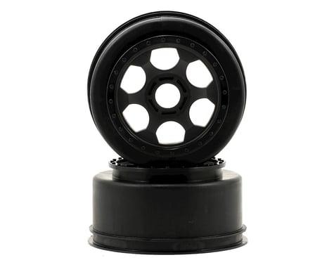 """DE Racing 17mm Hex """"Trinidad"""" Short Course Wheels (Black) (2) (SC8/Senton)"""