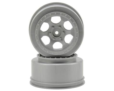 DE Racing Trinidad Short Course Wheels w/3mm Offset (Silver) (2) (SC5M)