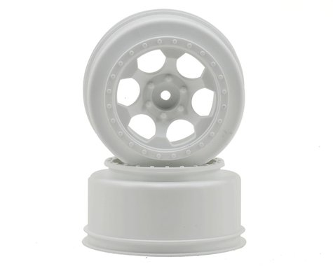 "DE Racing 12mm Hex ""Trinidad"" Short Course Wheels (White) (2) (SC6/Slash/Blitz)"