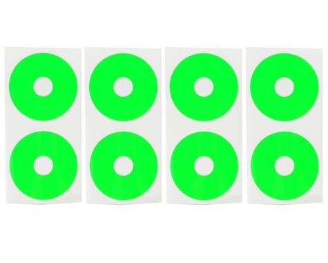 DE Racing 1/10 Buggy Wheel Sticker Disk (Fluorescent Green) (8)