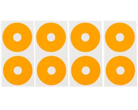 DE Racing 1/10 Buggy Wheel Sticker Disk (Fluorescent Orange) (8)