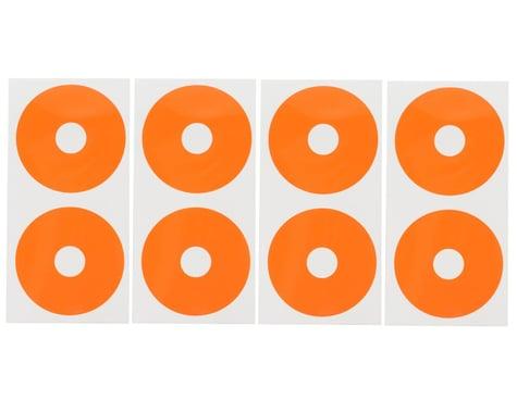 DE Racing 1/10 Buggy Wheel Sticker Disk (Fluorescent Red-Orange) (8)