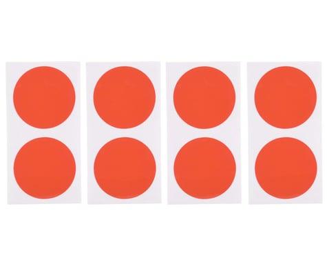 DE Racing Gambler Dirt Oval Mud Plug Wheel Sticker Disks (Red/Orange)