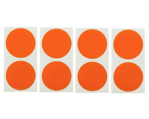 DE Racing Speedway Mud Plug Sticker Disks (Red/Orange) (8)