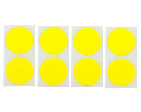 DE Racing Speedway Mud Plug Sticker Disks (Yellow) (8)