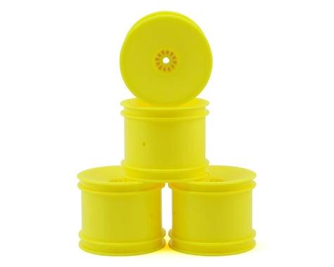 """DE Racing 12mm Hex """"Speedline"""" 2.2"""" 1/10 Stadium Truck Wheel (4) (22T) (Yellow)"""