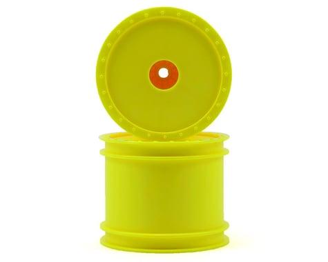 """DE Racing 12mm Hex """"Borrego"""" 2.2"""" 1/10 Stadium Truck Wheel (2) (T4) (Yellow)"""