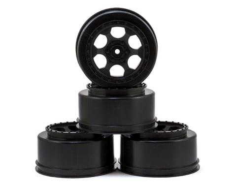 """DE Racing 12mm Hex """"Trinidad"""" Short Course Wheels (Black) (4) (SC5M)"""