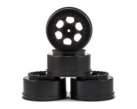 DE Racing Trinidad Short Course Wheels w/3mm Offset (Black) (4) (SC5M)
