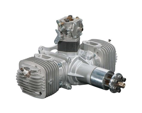 DLE-120 120cc Twin Gas Engine with Electronic Ignition and Mufflers
