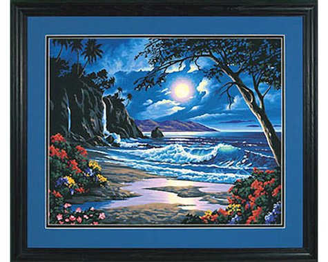 Dimensions  Paint By Number Moonlit Paradise