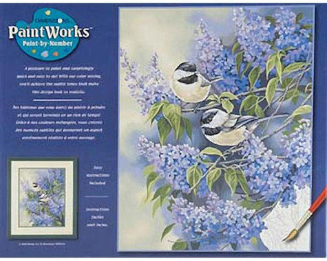 Dimensions  Paint By Number Chickadees & Lilacs, 11 X 14""