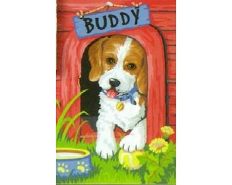 """Dimensions Cute Puppy Paint by Number (9""""x12"""")"""