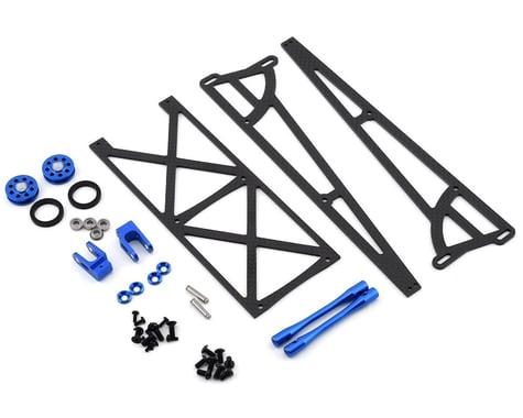 DragRace Concepts Slider Wheelie Bar w/O-Ring Wheels (Blue)