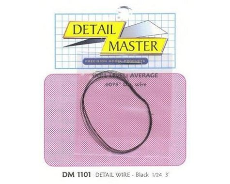 "Detail Master 1/24-1/25 2ft. Detail Wire Black (.0075"" Dia.)"