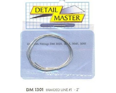 "Detail Master 1/24-1/25 2ft. Braided Line #1 (.020"")"